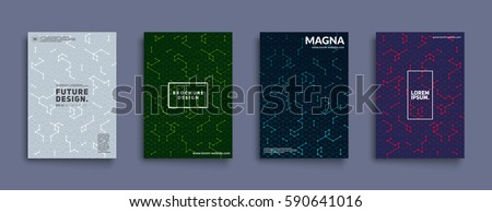 Futuristic covers design. Cool isometric patterns. Eps10 layered vector.