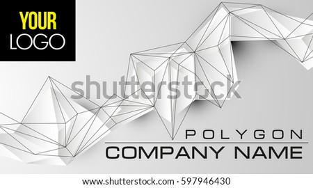 futuristic 3d polygonal
