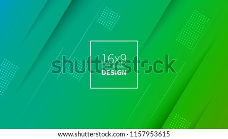 Futuristic design green and blue background. Templates for placards, banners, flyers, presentations and reports. Minimal geometric, dynamic shapes composition, motion design geometric style flat EPS10