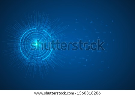 Futuristic digital technology design. Vector abstract round big data visualization.  Visual information complexity. abstract background.