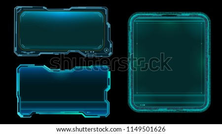 Futuristic displays with copy space.Vector illustration.