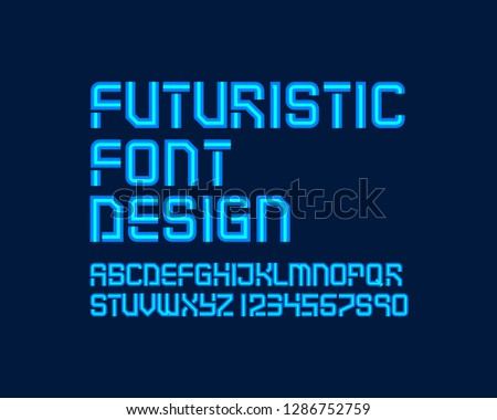 Futuristic font design