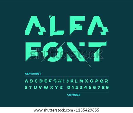 Futuristic font set