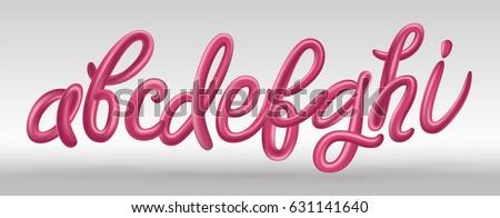 futuristic font set with