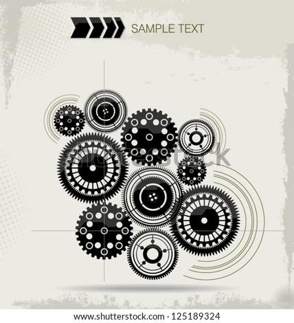 futuristic gear design concept
