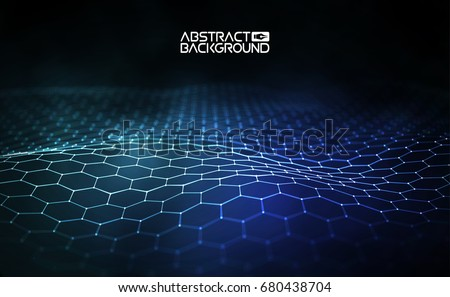 futuristic hexagon vector