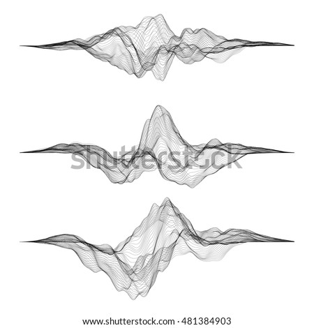 futuristic hud  ui vector grid