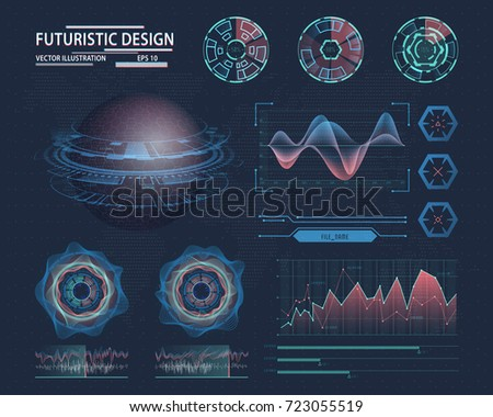 futuristic infographic with