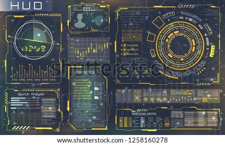 futuristic interface hud style