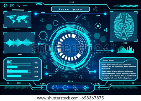 Futuristic interface technology design.  Element of this image furnished by Nasa