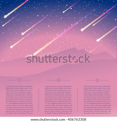futuristic meteor shower