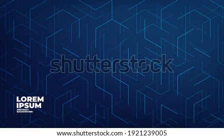 Futuristic modern geometric connection line abstract background. Digital technology concept. Foto d'archivio ©