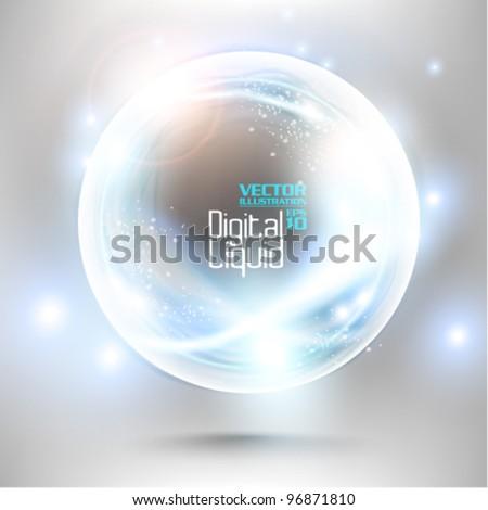 futuristic neon digital flare