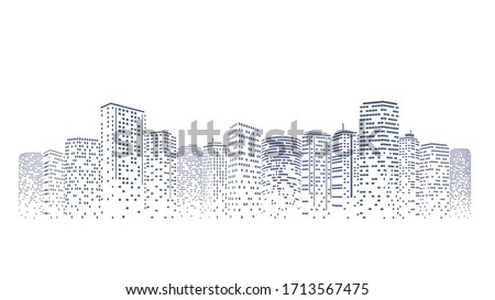 futuristic night city building