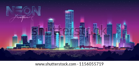 futuristic night city