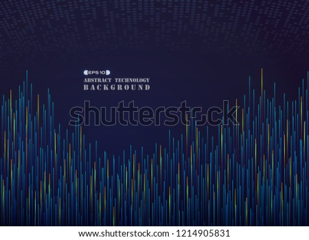 Futuristic of grand science in blue hot tome line pattern background, vector eps10 #1214905831