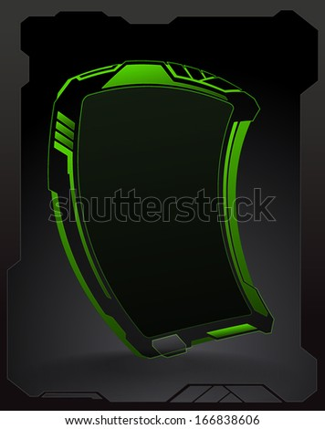 futuristic pad banner with a