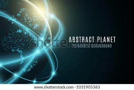 futuristic planet earth
