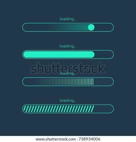 Futuristic progress loading bar