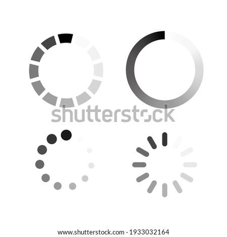 Futuristic progress loading bar on white background. Stock vector Сток-фото ©