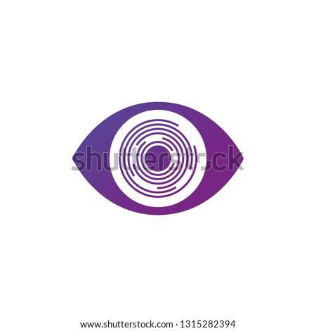 Futuristic Retina futuristic circles eye, personality eye identification, Modern Eye icon. Vector illustration isolated on white background.