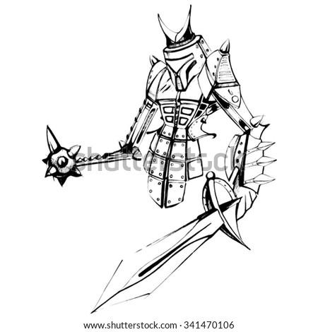 futuristic robot samurai