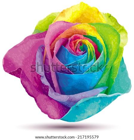 futuristic rose colored in the