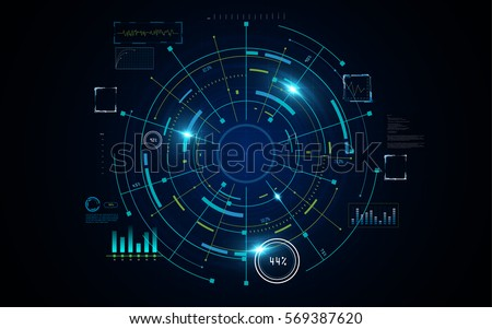 futuristic sci fi hi tech concept background