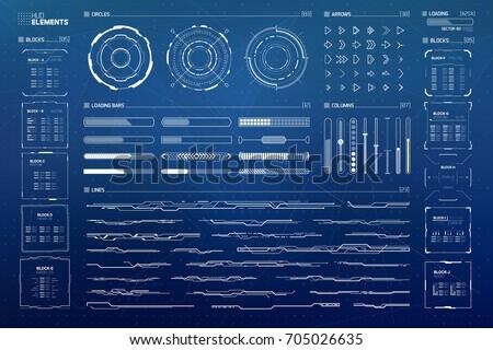 Futuristic Sci Fi User Interface HUD Set