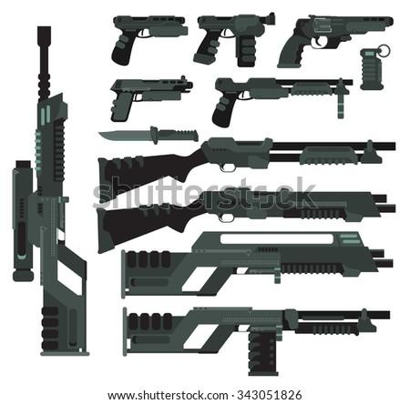 futuristic sci fi weapons