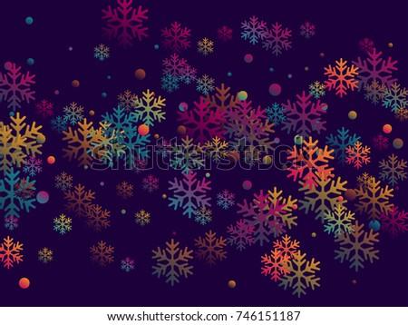 futuristic snow flakes falling