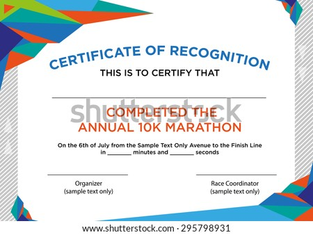 Futuristic Style Certificate Of Recognition With Sample Text – Certificate of Recognition Samples