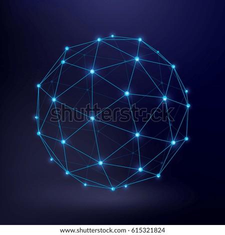 futuristic technology vector