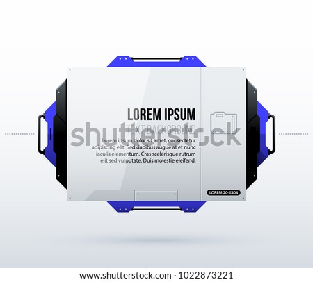 Futuristic text background in clean hi-tech/techno style on white background