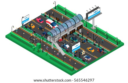 futuristic transport isometric