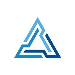 Futuristic Triangle Chain logo design inspiration