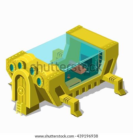 futuristic underwater apartment