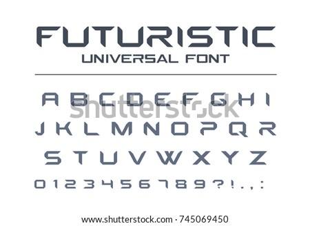 futuristic universal font