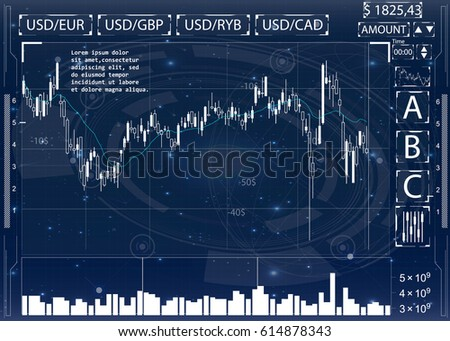 Futuristic user interface. Abstract virtual graphic touch user interface. HUD. Hi-tech basic. Blue and white elements. UI hud infographic interface screen monitor radar set web elements