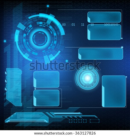 Futuristic user menu interface HUD. Abstract background. Stock vector illustration.