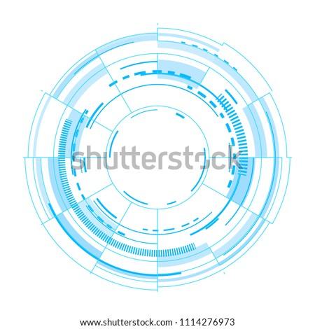 futuristic vector interface on