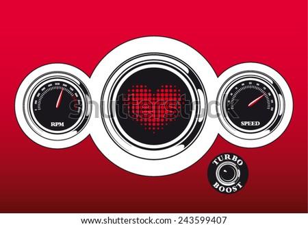 futuristic vector love