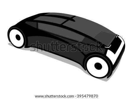 futuristic vehicle cutout