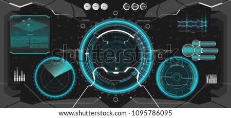 futuristic vr head up display