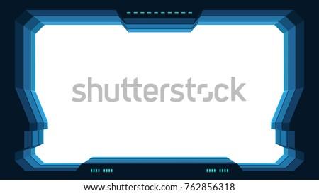 futuristic window with white
