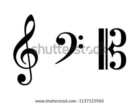 G clef, F clef, C clef