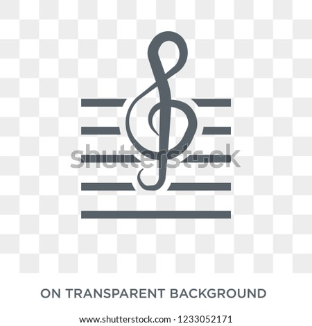 G clef icon. G clef design concept from Entertainment collection. Simple element vector illustration on transparent background.
