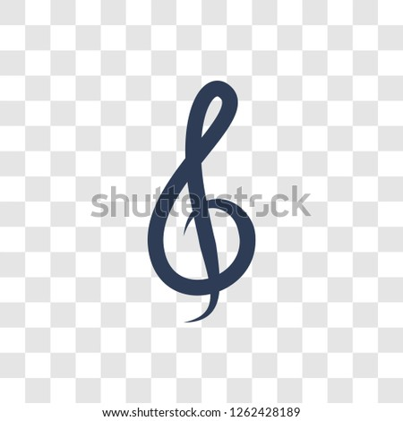 G clef icon. Trendy G clef logo concept on transparent background from Entertainment and Arcade collection