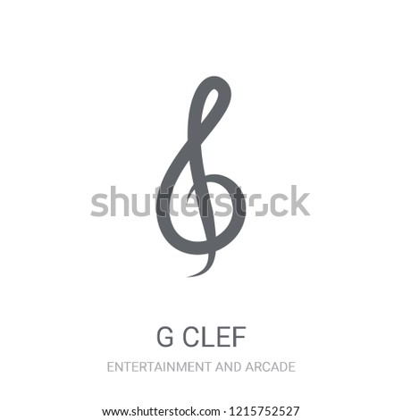 G clef icon. Trendy G clef logo concept on white background from Entertainment and Arcade collection. Suitable for use on web apps, mobile apps and print media.