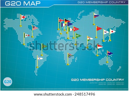 National bank of canada descargue grficos y vectores gratis g20 country flags with dotted world map or flags of the world economic g20 country gumiabroncs Image collections